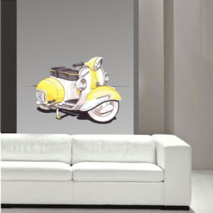 Koolart Large 70cm Vintage Vespa Scooter 2 tone Wall Art